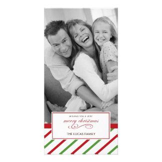 Peppermint Christmas Card Custom Photo Card