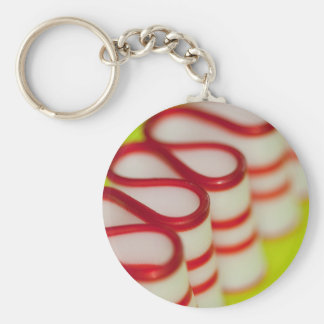 Peppermint Christmas Ribbon Candy Keychain