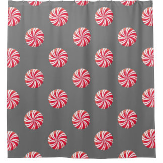 Peppermint Christmas Shower Curtain
