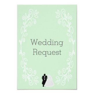 Peppermint Damask Maid Of Honour Request Card