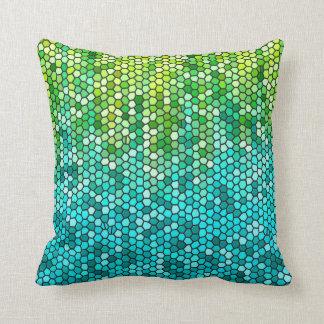 Peppermint Garden Mosaic Cushion