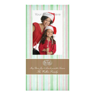 Peppermint green photo christmas card photo cards