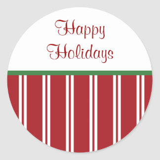 Peppermint Happy Holidays Stickers