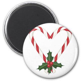 Peppermint Heart Magnet