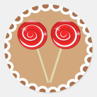 Peppermint Lollipop Christmas Cookie Sticker