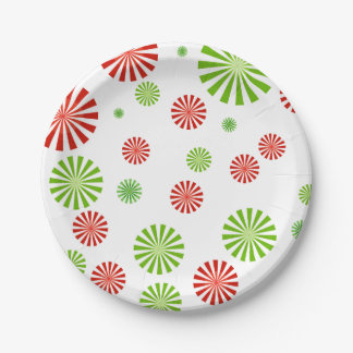 Peppermint Paper Plate