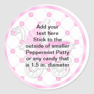 Peppermint Patty Stickers Baby Shower FAVORS