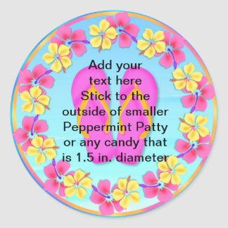 Peppermint Patty Stickers Tropical Luau FAVORS