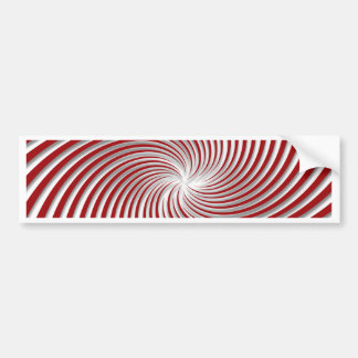 Peppermint Red Swirl and Shadow Bumper Stickers