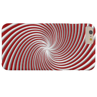 Peppermint Red Swirl and Shadow Case Barely There iPhone 6 Plus Case