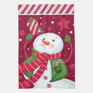 Peppermint Snowman 3 Kitchen Towel