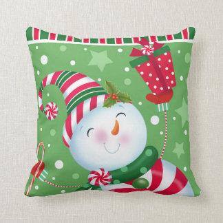 Peppermint Snowman Pillow