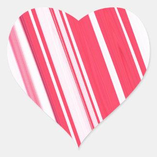 Peppermint Stick Heart Sticker