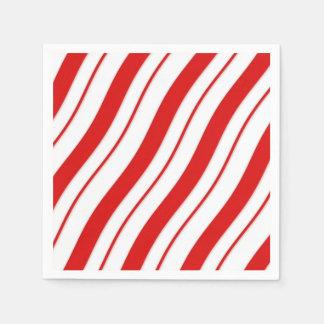 Peppermint Stripes Paper Serviettes