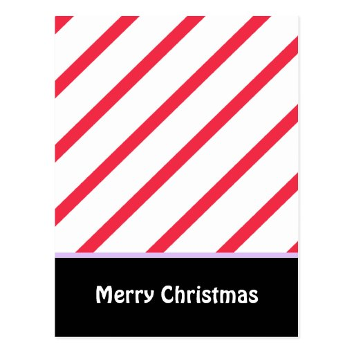 Peppermint Stripes Post Cards