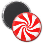 peppermint swirl candy 6 cm round magnet