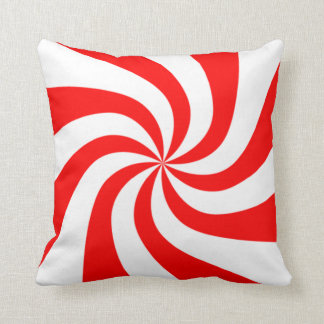 peppermint swirl candy cushion