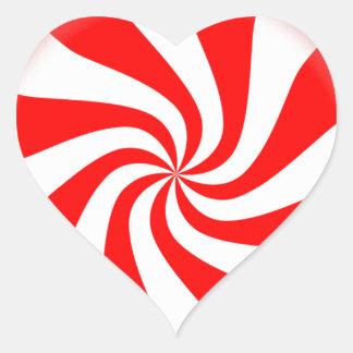 peppermint swirl candy heart sticker