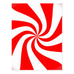 peppermint swirl candy post cards