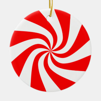 Peppermint Swirl Christmas Ornament