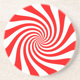 Peppermint Swirl Pattern Coaster
