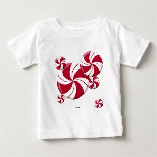 Peppermint Swirl Stripe Candy Baby T-Shirt