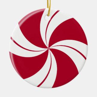Peppermint Swirl Stripe Candy Christmas Ornament