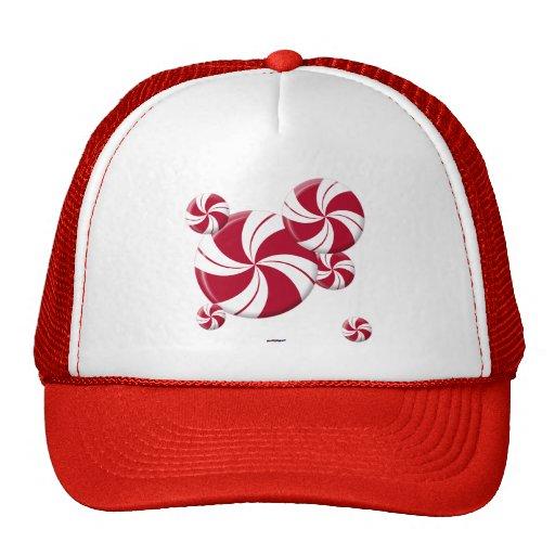 Peppermint Swirl Stripe Candy Mesh Hats