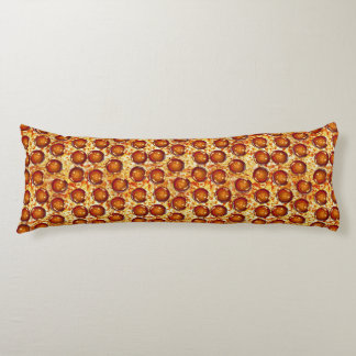 Pepperoni and Cheese Pizza Pattern Body Cushion