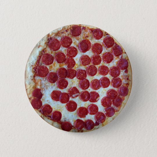 Pepperoni Pizza 6 Cm Round Badge