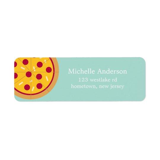 Pepperoni Pizza Address Labels