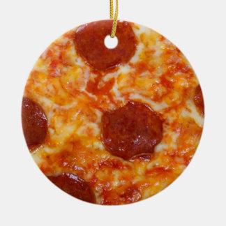 Pepperoni Pizza Christmas Ornament