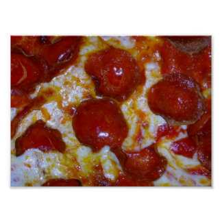 pepperoni Pizza Close up poster