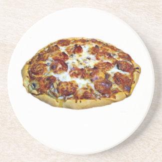 """""""Pepperoni Pizza"""" design round coasters"""