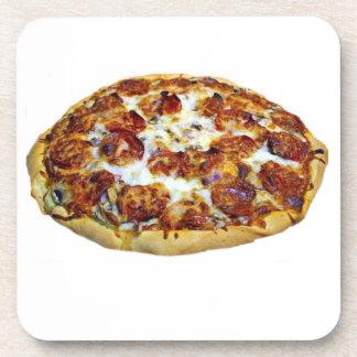 """""""Pepperoni Pizza"""" design square coasters"""