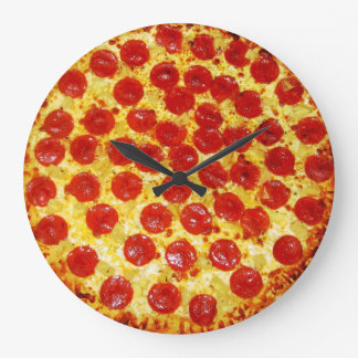 Pepperoni Pizza Large Clock