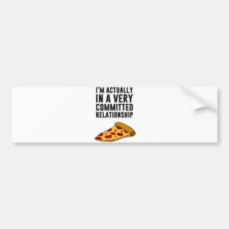 Pepperoni Pizza Love - A Serious Relationship Car Bumper Sticker