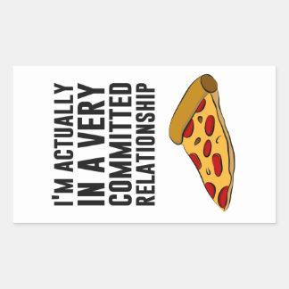 Pepperoni Pizza Love - A Serious Relationship Rectangular Sticker