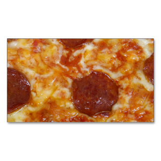 Pepperoni Pizza Magnetic Business Cards