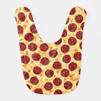Pepperoni Pizza Pattern Bib