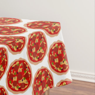 Pepperoni pizza pattern dinner party tablecloth