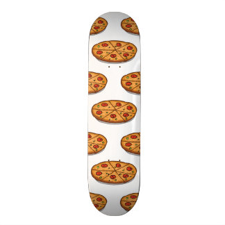 Pepperoni Pizza Pattern; Italian Food Skateboard Deck