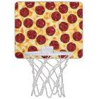 Pepperoni Pizza Pattern Mini Basketball Hoop
