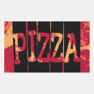 Pepperoni Pizza Rectangular Sticker
