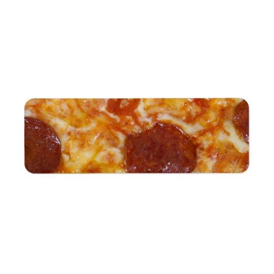 Pepperoni Pizza Return Address Label