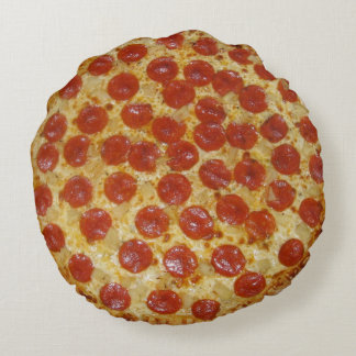 Pepperoni Pizza Round Cushion
