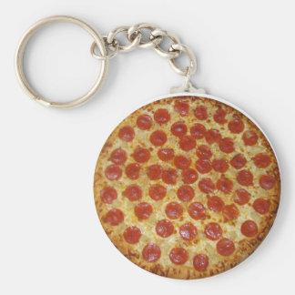 Pepperoni Pizza Sauce tomato Italian food funny c Keychains