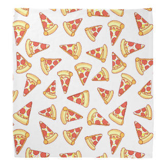 Pepperoni Pizza Slice Drawing Pattern Bandana