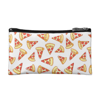 Pepperoni Pizza Slice Drawing Pattern Makeup Case Makeup Bags