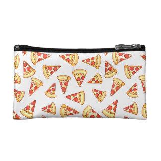 Pepperoni Pizza Slice Drawing Pattern Makeup Case Makeup Bags